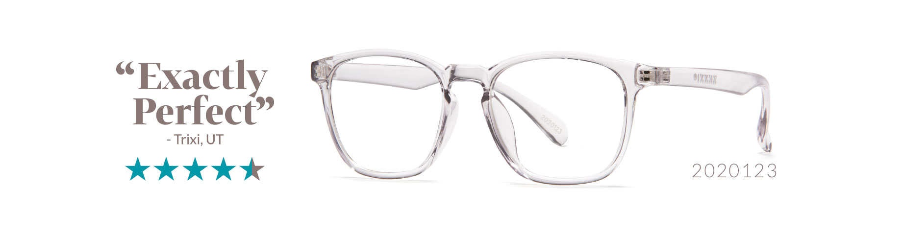 trendy clear glasses