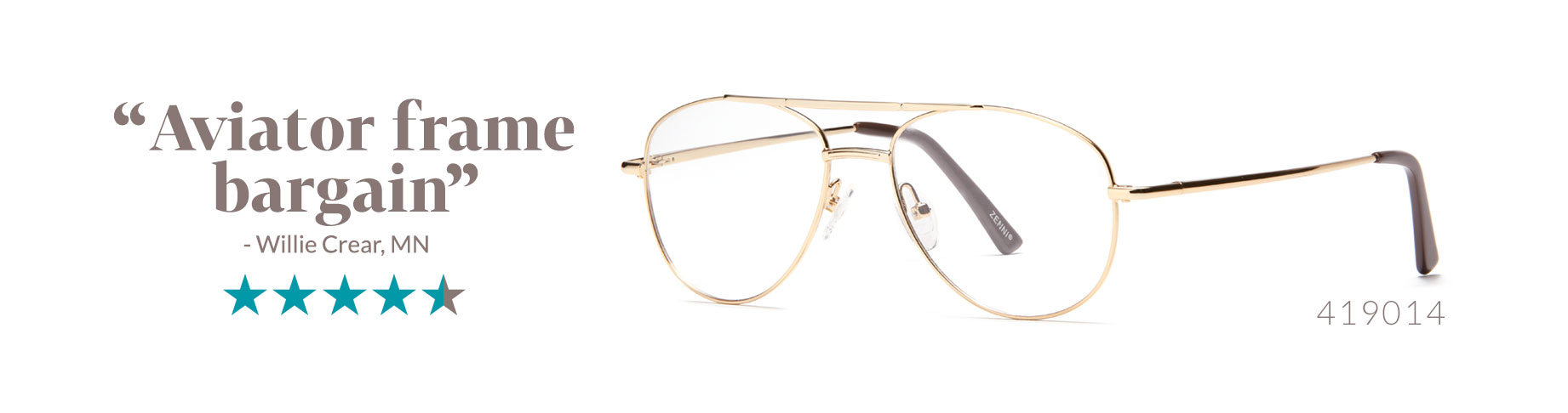 6862b29c991 Gold Vintage-Inspired Aviator Glasses  419014