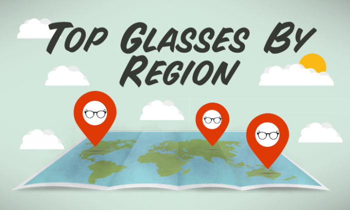 top glasses of 2015 by region