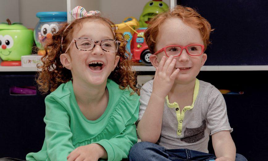 kids loving their new frames