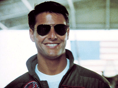 e600e4fcca Top Gun (1986). No one can wear glasses like Mr. Cruise and those Ray-Ban  3025 gold metallic rimmed