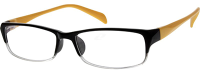 black and yellow unisex glasses