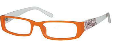 womens orange frame