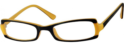 yellow and black womens frames