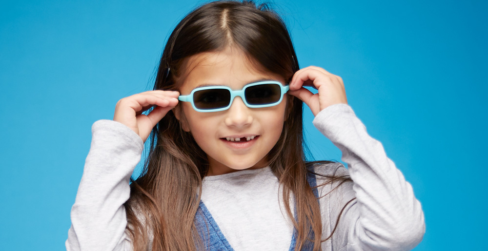 children wear sunglasses