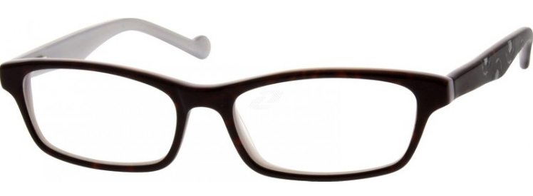 black framed kids glasses