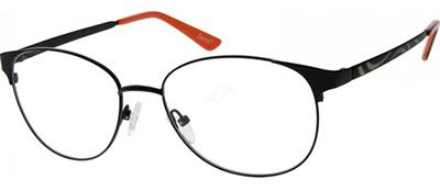 black and orange titanium glasses