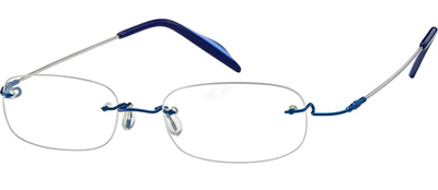 blue titanium frames