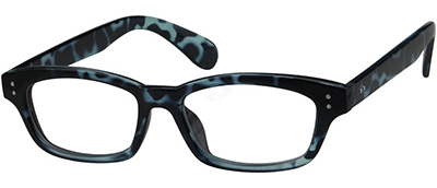 blue tortoiseshell glasses