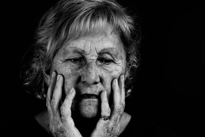 black and white grandma