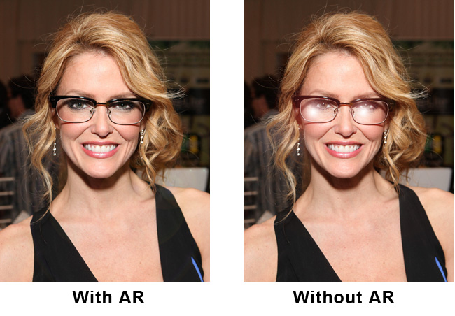 Before and After Anti-Reflective Coating for Glasses | Zenni Optical