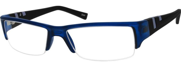 Zenni Optical Half Rim Glasses Frames 294316