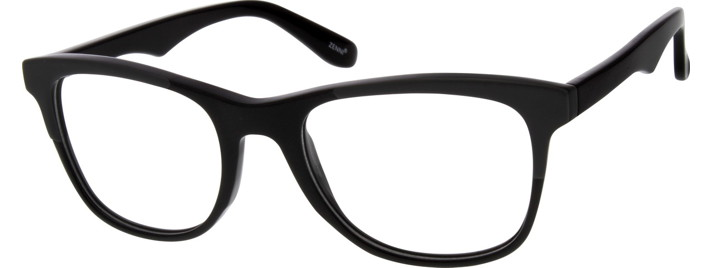 Men's Black 6372 Acetate Full-Rim Frame