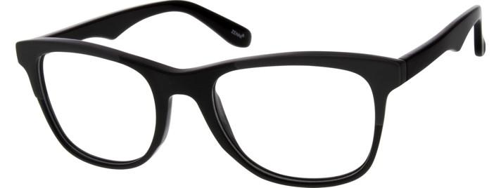 Men's Black 6372 Acetate Full-Rim Frame