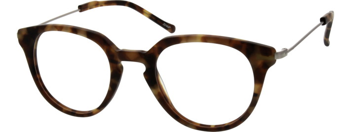 7824 Acetate Full-Rim Frame with Metal Alloy Temples