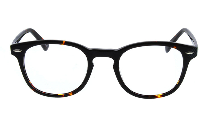 black round tortoiseshell glasses