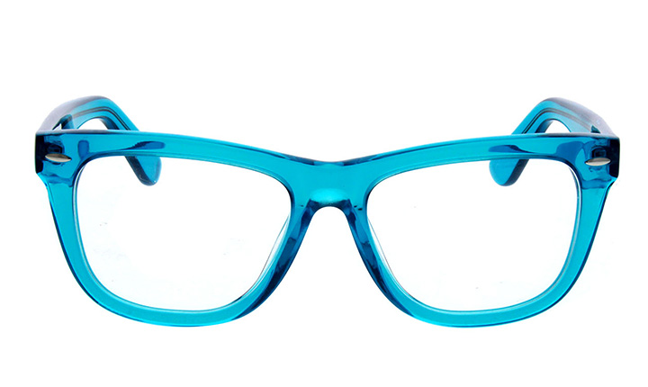 blue transparent glasses