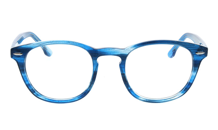 blue transparent tortoiseshell