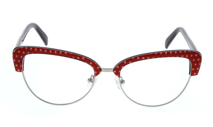 polka dot browline glasses