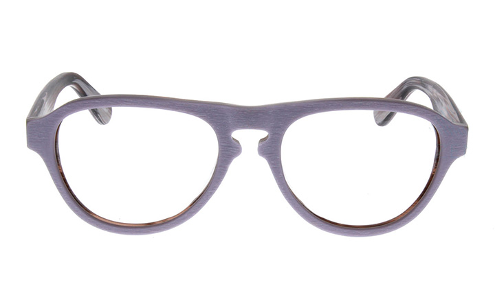 purple wooden glasses