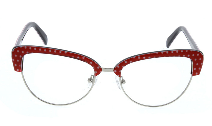 polka dot cateye glasses