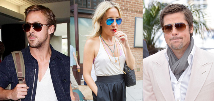 aviator sunglasses celebrities