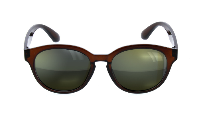 round wood frame sunglasses