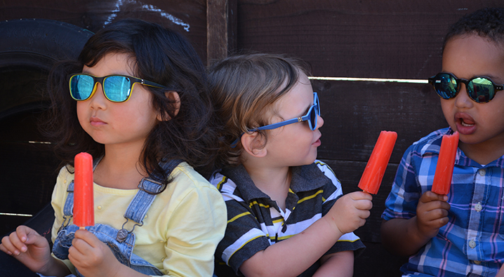children with glasses