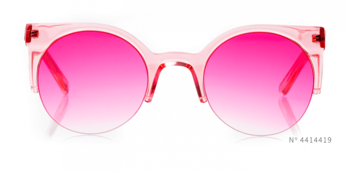 pink cateye glasses