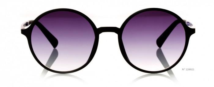 circular purple tinted glasses
