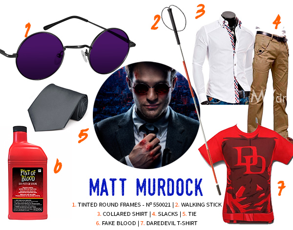 Matt Murdock Daredevel Halloween Costume