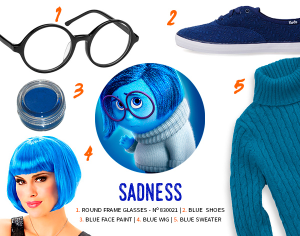 Sadness Inside Out Halloween Costume
