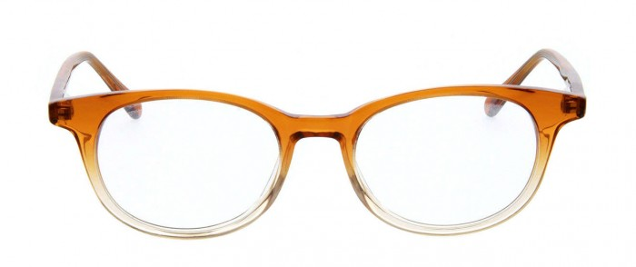 orange and grey glasses