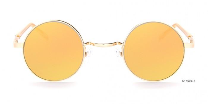 coachella gold round sunglasses