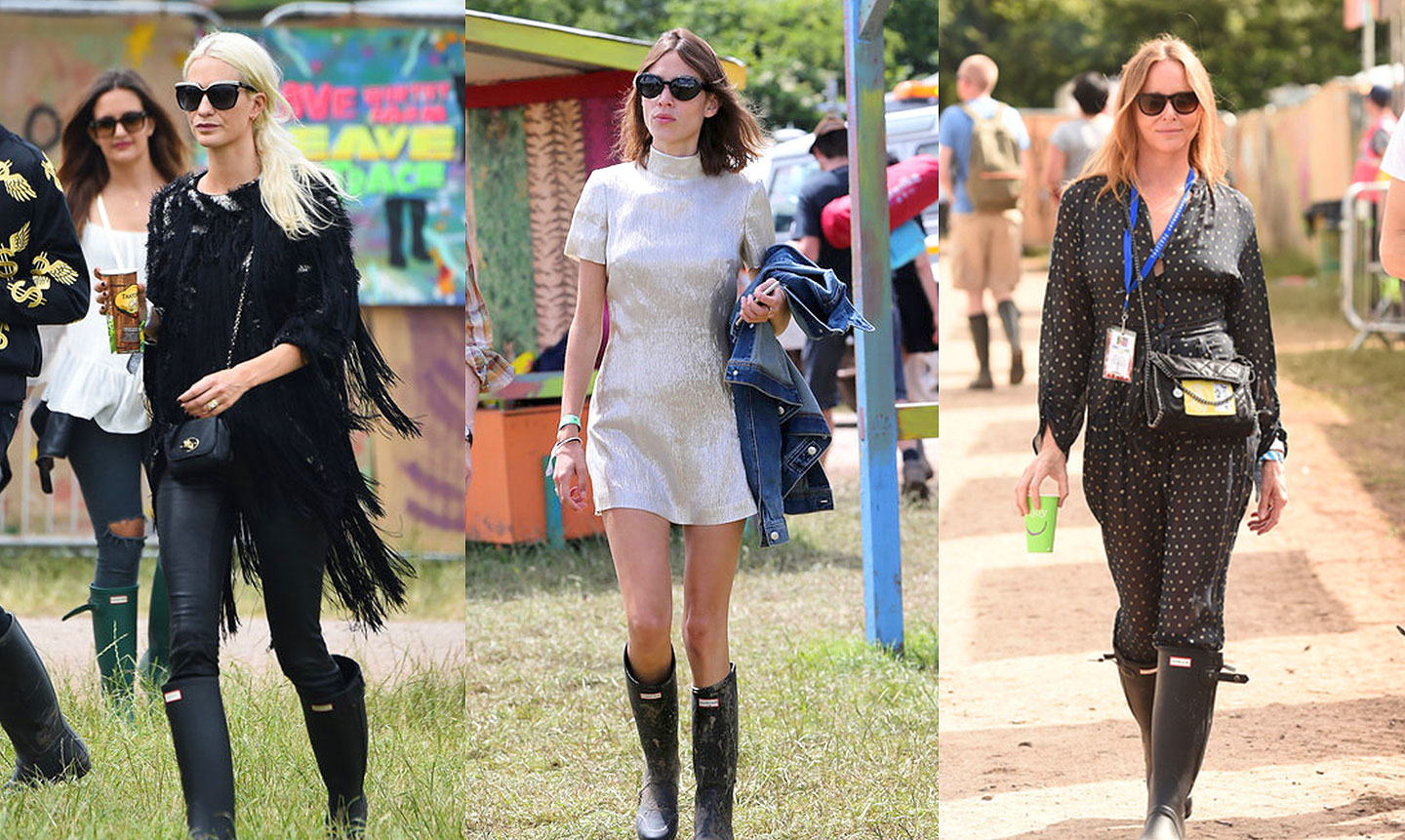 GLASTONBURY celebrity fashion