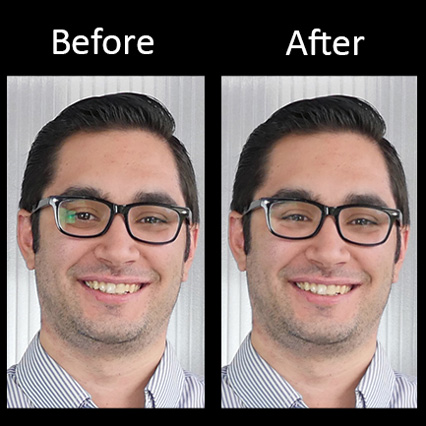 How to Remove Glasses Glare With Photoshop