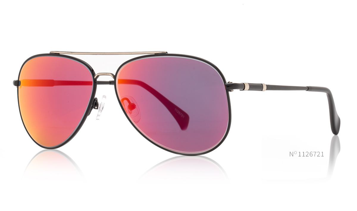 red lens aviator sunglasses