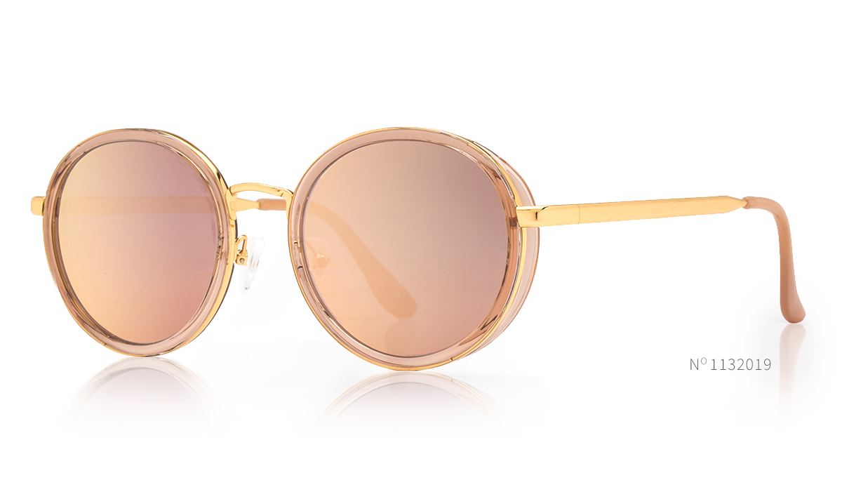 round rosegold sunglasses