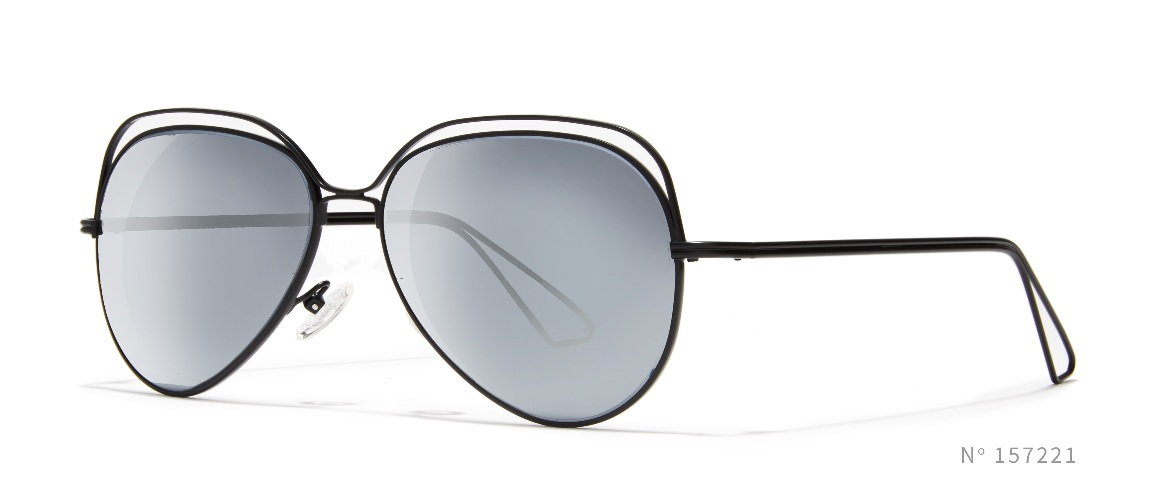 Black Wireframe Aviator Sunglasses