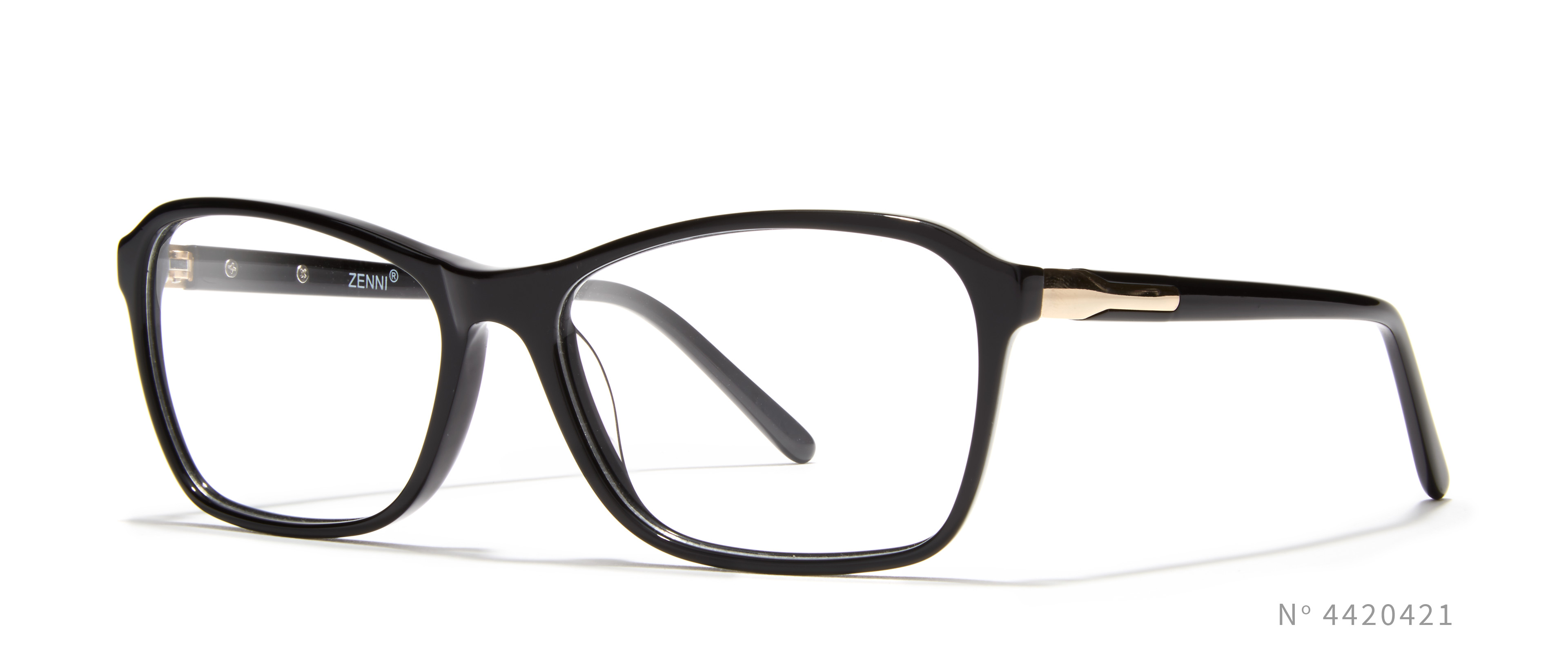 Black Angular Cateye Glasses