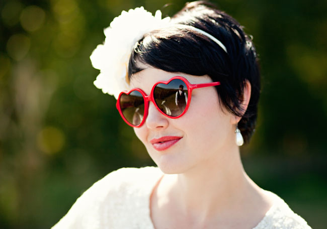 red heart bride glasses