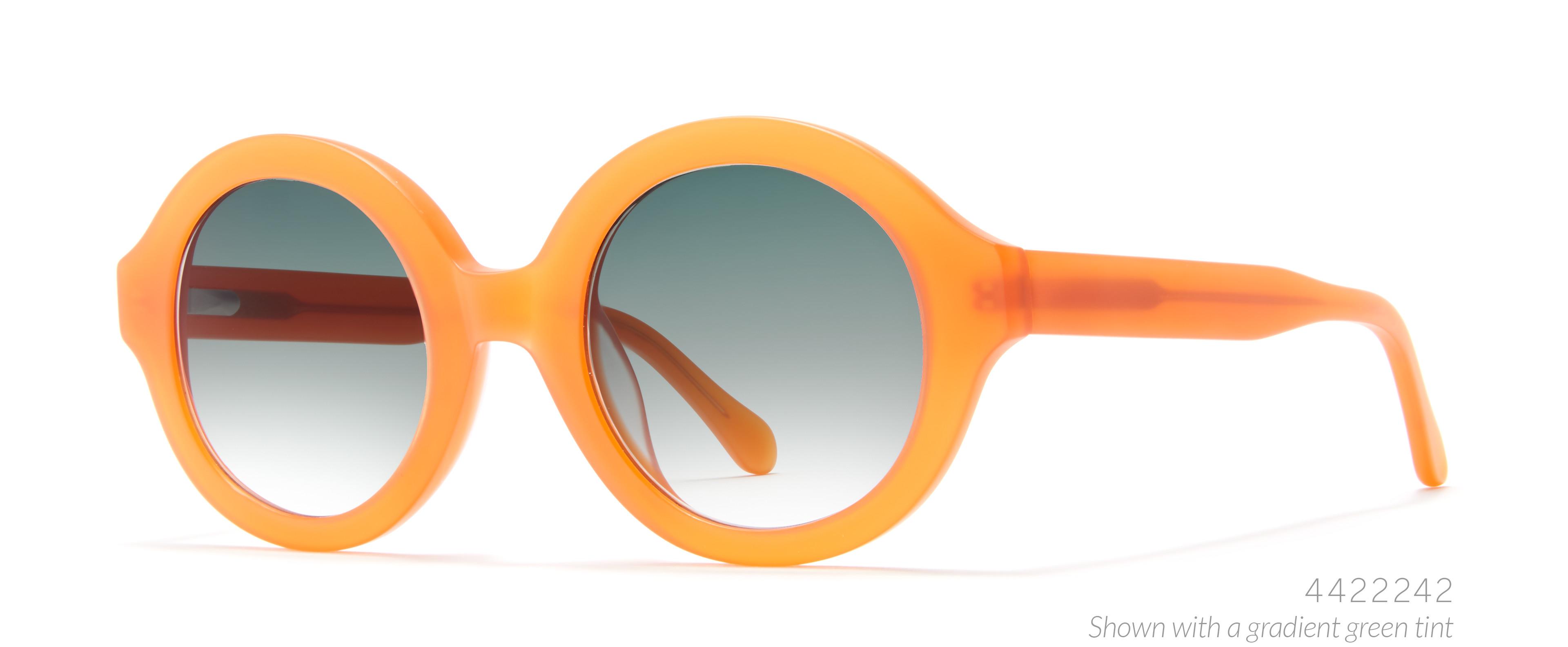 round orange sunglasses