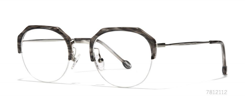 geometric square face glasses