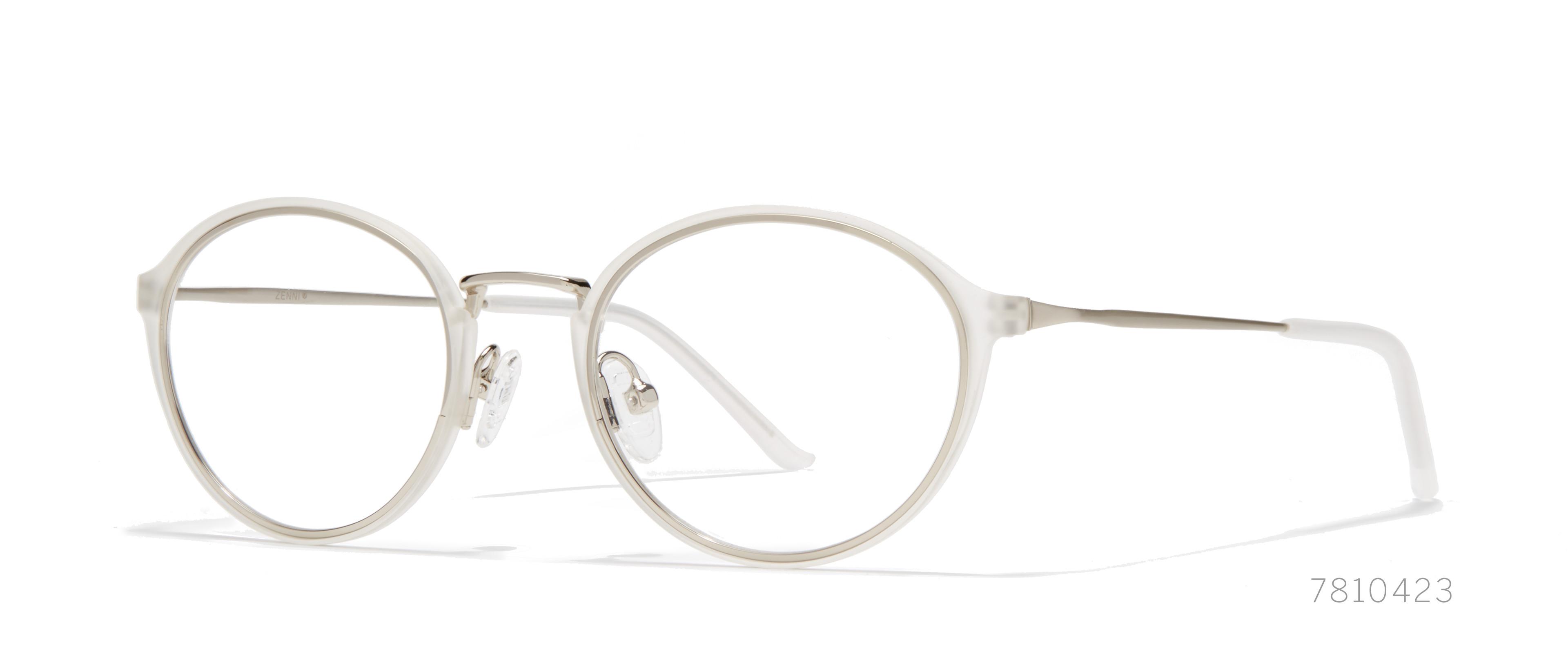 white round eyeglasses