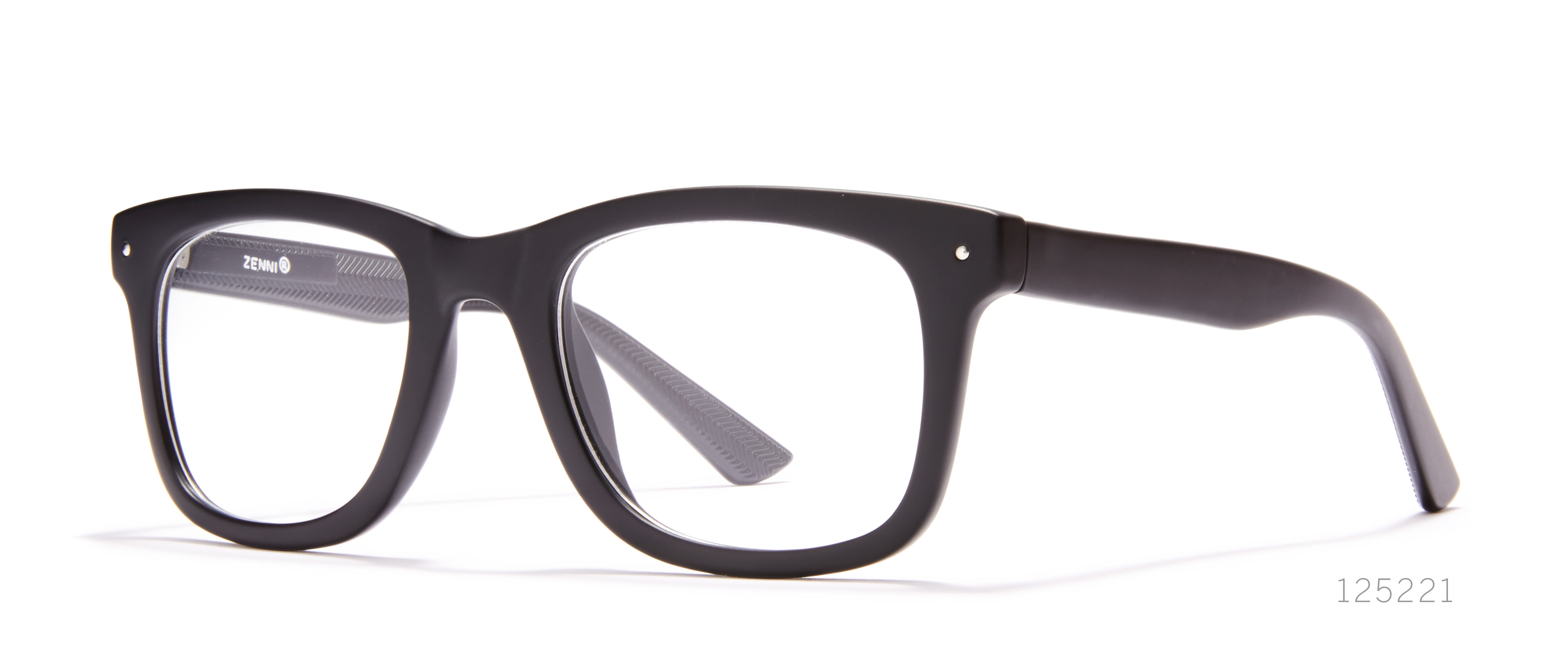 black retro glasses