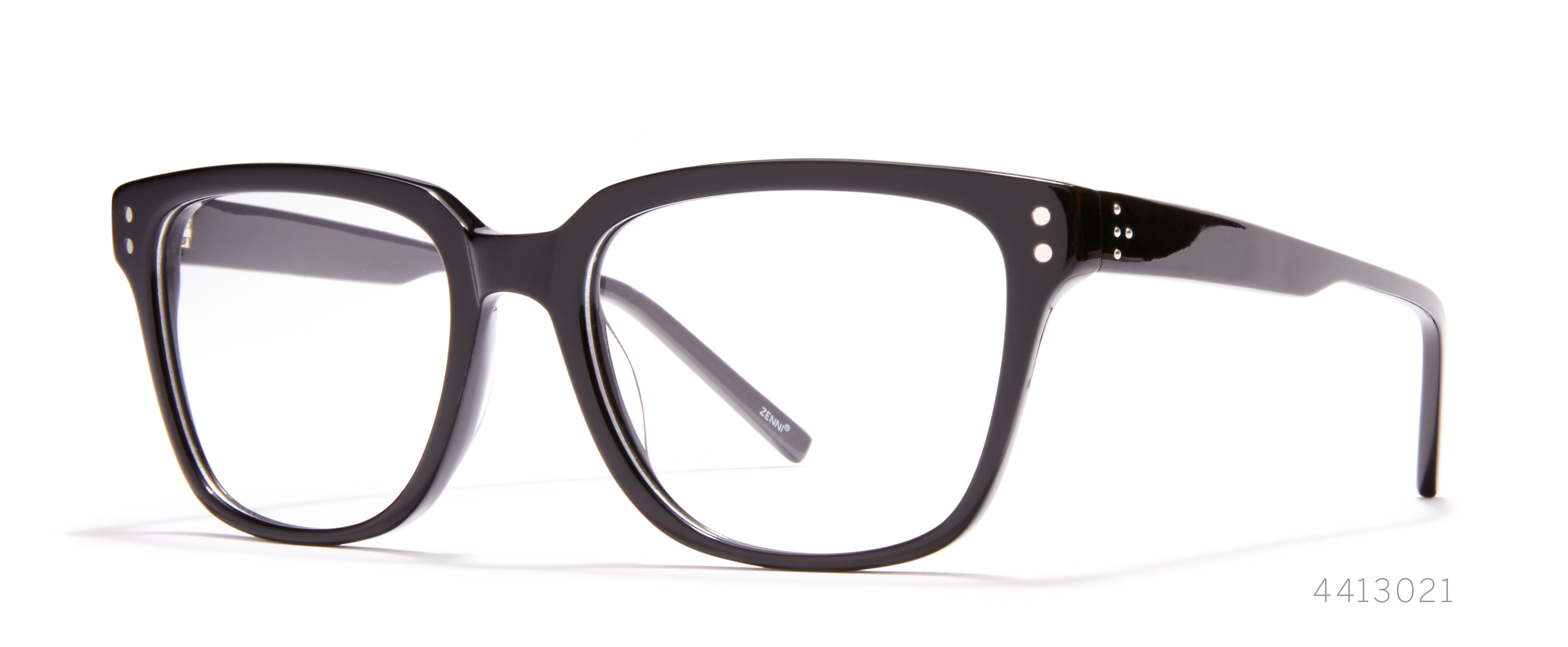 black statement glasses