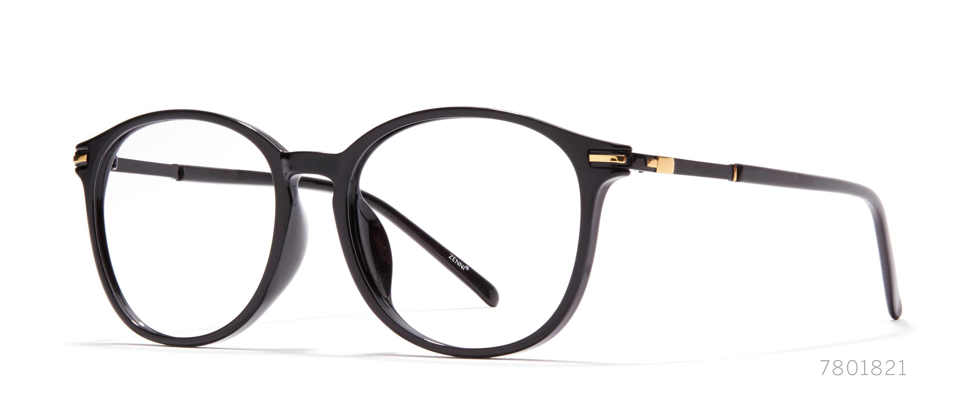 round-black eyeglasses
