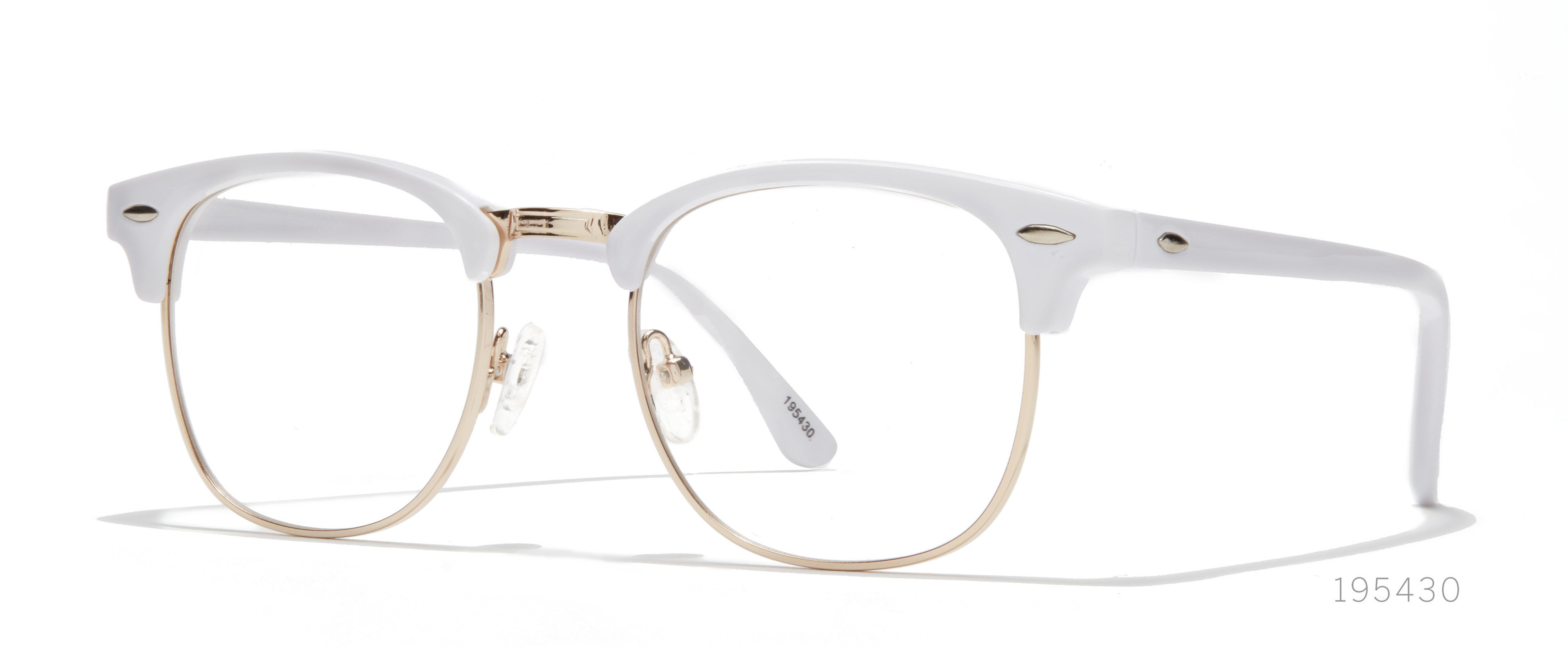 white browline frames
