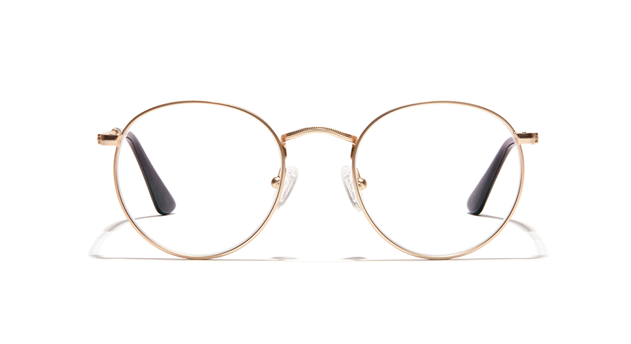 gold aviator wedding glasses