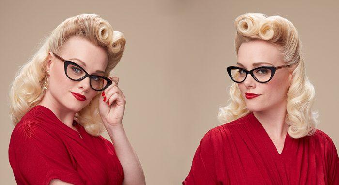 1940s vintage eyewear look